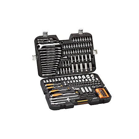 magnusson 1 4 3 8 1 2 socket wrench set 205 pieces departments diy at b q. Black Bedroom Furniture Sets. Home Design Ideas