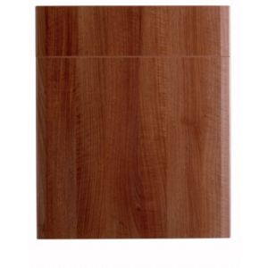View IT Kitchens Walnut Style Modern 600mm Drawerline Door & Drawer Front, PACK S, Set of 2 details