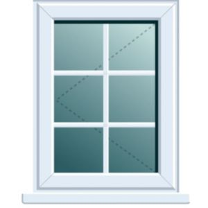 View White PVCu LH Side Hung L/H Window (H)820mm (W)620mm details
