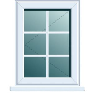 View White PVCu LH Side Hung L/H Window (H)970mm (W)620mm details
