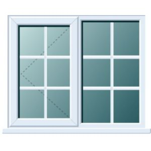 View White PVCu LH Side Hung with Fixed Lite L/H Window (H)970mm (W)1190mm details