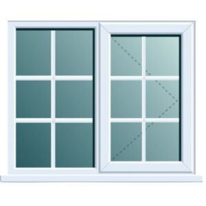 View White PVCu RH Side Hung with Fixed Lite R/H Window (H)1120mm (W)1190mm details