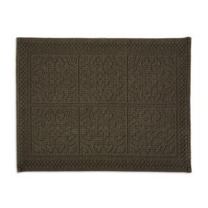 Image of Marinette Saint-Tropez Astone Black Tile Cotton Bath mat (L)500mm (W)700mm