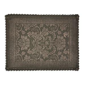 Image of Marinette Saint-Tropez Platinum Gasoline Floral Cotton Bath mat (L)500mm (W)700mm