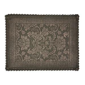Image of Marinette Saint-Tropez Platinum Gasoline Cotton Floral Bath mat (L)500mm (W)700mm