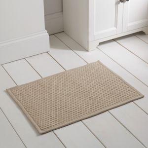 Image of Marinette Saint-Tropez Version Beige Cotton Bath mat (L)500mm (W)700mm