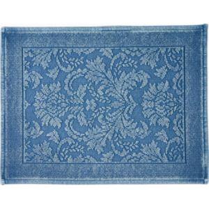 Image of Marinette Saint-Tropez Platinum Light blue Floral Cotton Bath mat (L)500mm (W)700mm
