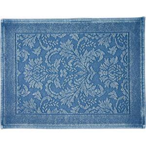 Image of Marinette Saint-Tropez Platinum Light blue Cotton Floral Bath mat (L)500mm (W)700mm