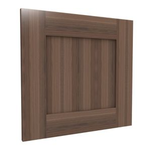 View Form Darwin Shaker Walnut Effect Matt Bedside Cabinet Door (H)478 mm (W)497 mm details
