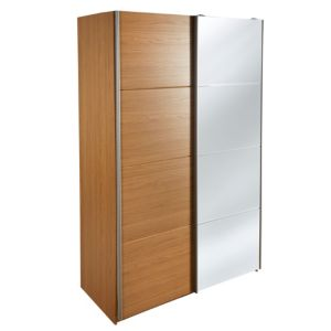 View Kendal Oak Effect Mirror Sliding Wardrobe (H) 205.4 cm (W) 130 cm details