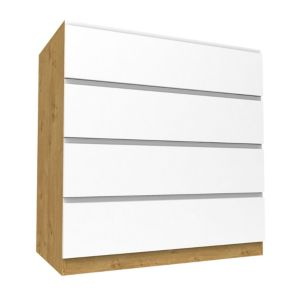 View Form Darwin Oak Effect & White Drawer Chest (H) 1026 mm (W) 1000 mm details
