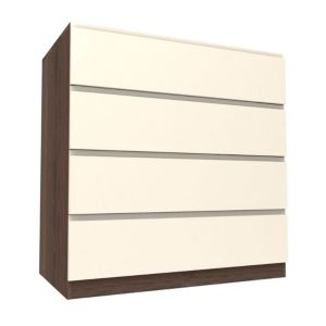 View Form Darwin Walnut Effect & Cream Drawer Chest (H) 1026 mm (W) 1000 mm details