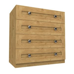 View Form Darwin Oak Effect Drawer Chest (H) 1026 mm (W) 1000 mm details