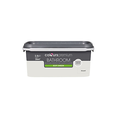 Colours Bathroom Mussel Soft Sheen Emulsion Paint 2 5L