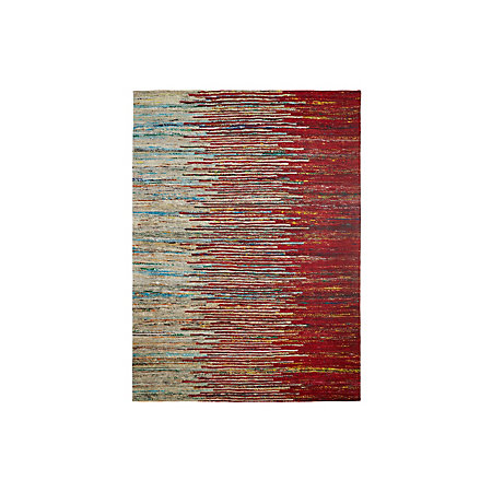 Colours Yazmine Red Striped Rug L 1 7m W 2 M