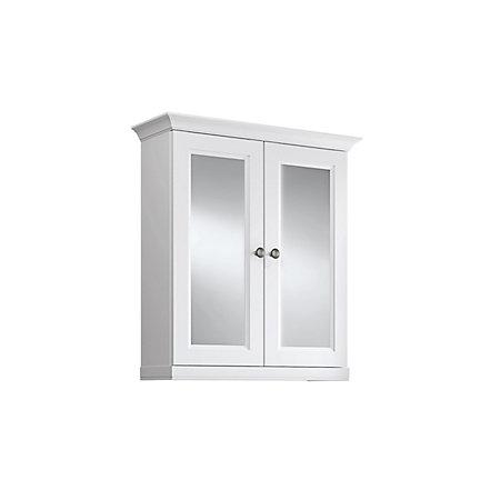 Cooke Lewis Chadleigh Double Door White Matt Mirror Cabinet
