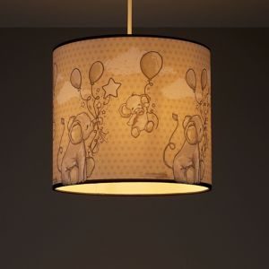 Image of Kids Colours Effalump Blue & cream Light shade (D)250mm
