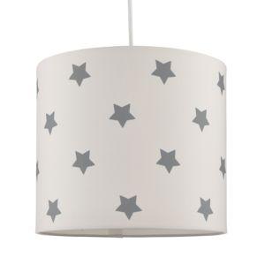 Image of Kids Colours Stars Blue & White Light Shade (D)25cm