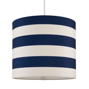 Image of Kids Colours Nautical Blue & White Light Shade (D)25cm