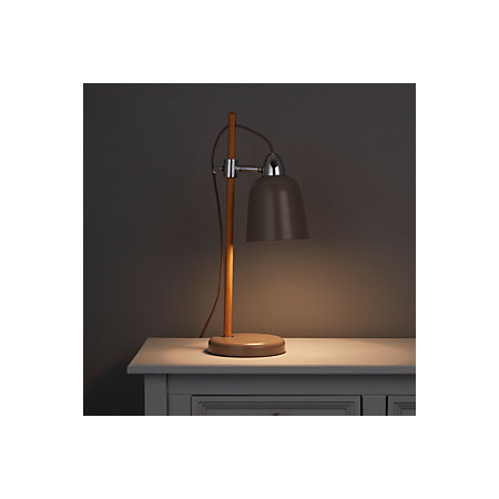 Task Mocha Oak Effect Table Lamp