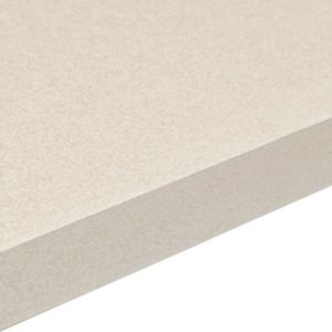 38mm Aura White Square Edge Kitchen Worktop (L)3.0m (D)600mm