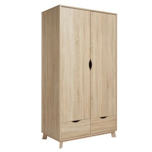 Image of Metcalfe Oak effect 2 door Wardrobe (H)1900mm (W)992mm