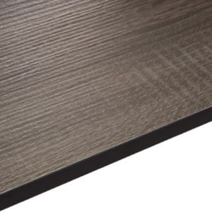 12.5mm Topia Dark Wood Effect Square Edge Kitchen Worktop (L)3020mm (D)610mm