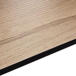 Image of 12.5mm Exilis Pyla Wood effect Square edge Laminate Internal curve worktop (L)0.95m (D)950mm