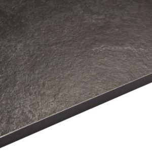 12.5mm Zinc Argente Black Square Edge Kitchen Worktop (L)3020mm (D)610mm