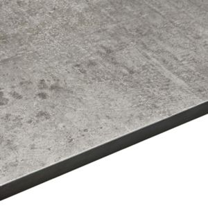 12.5mm Woodstone Grey Square Edge Kitchen Worktop (L)3020mm (D)610mm