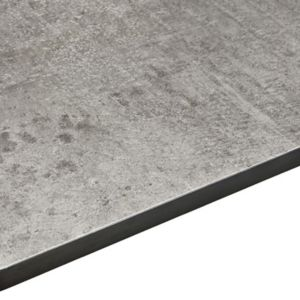 12.5mm Woodstone Grey Square Edge Kitchen Internal Curve Worktop (L)950mm (D)950mm