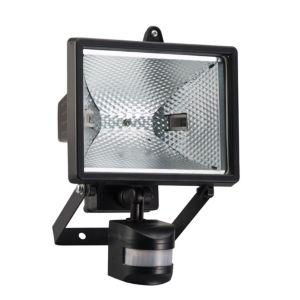 Image of Elro Gloss Black 400W Mains Powered External Pir Security Light