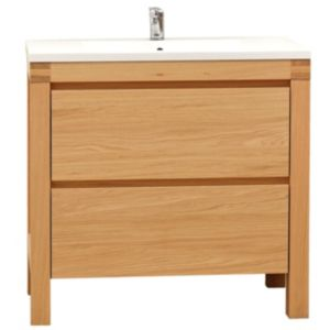 Cooke & Lewis Erwan Natural Oak Vanity Unit & Basin Set