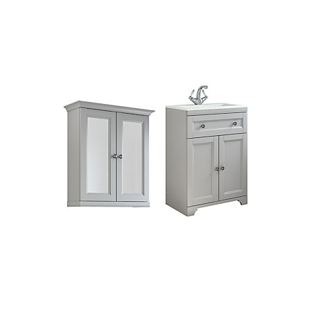 cooke lewis chadleigh matt light grey vanity unit with basin