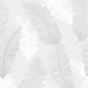 Image of Colours Umali Grey Feather Glitter effect Embossed Wallpaper