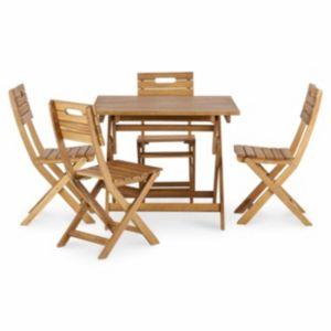 Denia Wooden 4 Seater Dining Set
