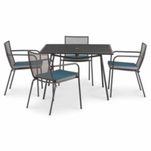 Adelaide Metal 4 Seater Dining Set