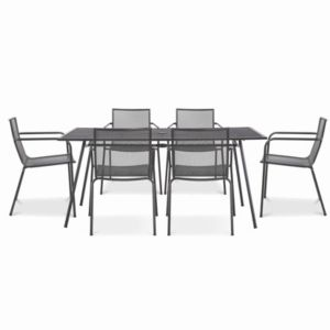 Adelaide Metal 6 Seater Dining Set