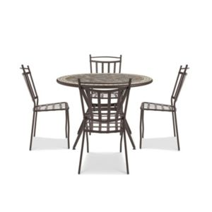 Sofia Metal 4 Seater Dining Set