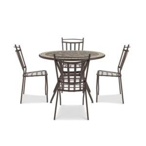 Sofia Metal 4 Seater Dining Set