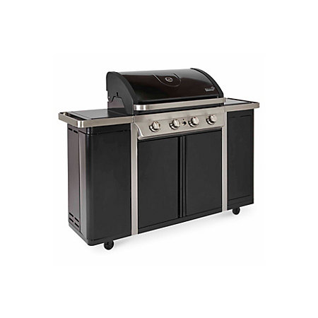 blooma 450 camden 4 burner gas barbecue with side burner departments diy at b q. Black Bedroom Furniture Sets. Home Design Ideas