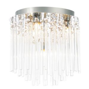 Image of Tooma Chrome effect 4 Lamp Bathroom ceiling light