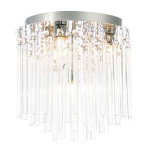 Image of Tooma Brushed Chrome effect 4 Lamp Bathroom Ceiling light