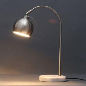 Image of Colours Arc Curve Matt Nickel effect Table lamp