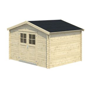 Image of 11x9 BELAÏA Apex roof Tongue & groove Wooden Shed with floor