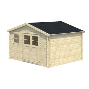 Image of 12x10 BELAÏA Apex roof Tongue & groove Wooden Shed with floor