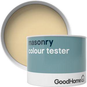Image of GoodHome Aruba Smooth Matt Masonry paint 0.25L Tester pot