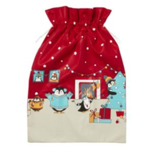 Image of Red Penguin family Sack
