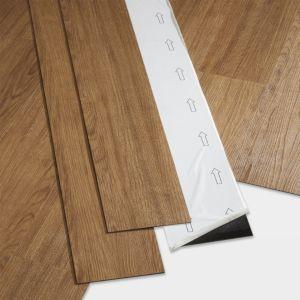 Image of GoodHome Poprock Natural honey Wood effect Self adhesive Vinyl plank 0.97m² Pack