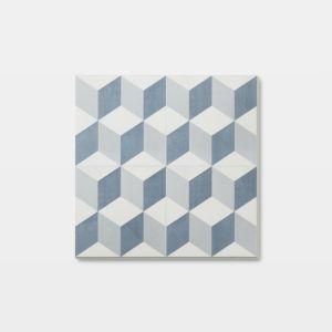 Image of GoodHome Poprock Blue Mosaic effect Self adhesive Vinyl tile 1.3m² Pack